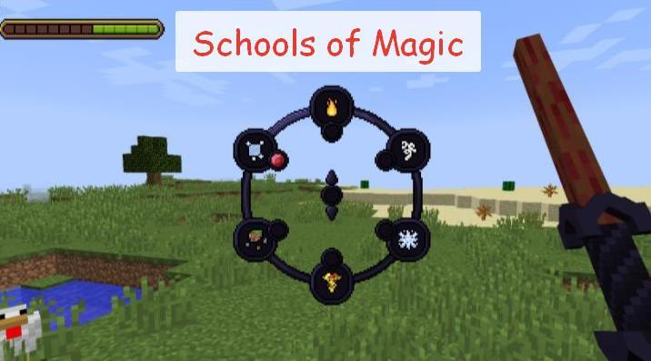 Schools of Magic большой магический мод