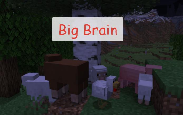Big Brain улучшенный искусственный интеллект мобов