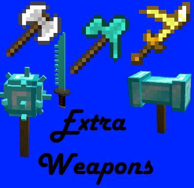 Extra Weapons новое оружие и инструменты