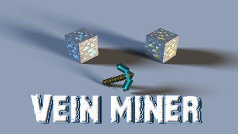 Vein Miner добыча всего пласта руды сломав один блок