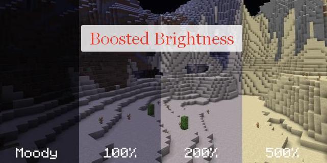 Boosted Brightness повышенная яркость игры