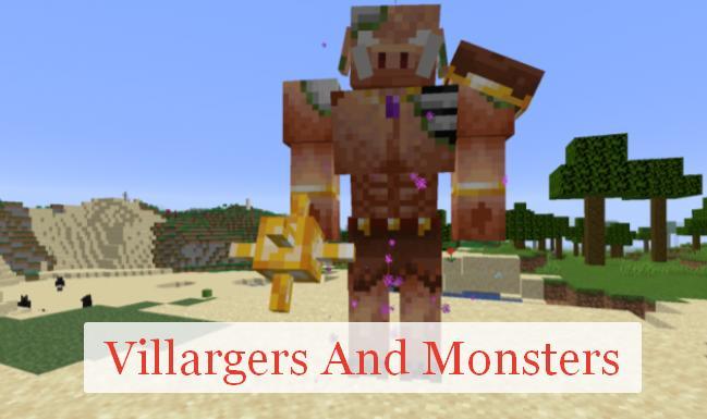Villargers And Monsters новые мобы, измерения и структуры
