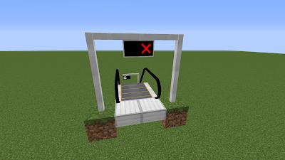 По бокам можно использовать столбы для вывесок.