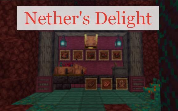 Nether's Delight еда в Аду (нижнем мире)