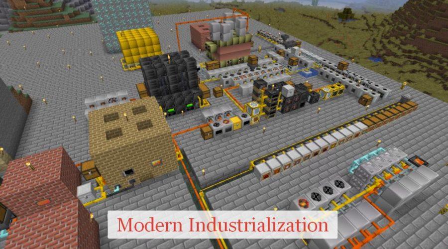 Modern Industrialization индустриальный мод на паровые агрегаты и электроэнергию