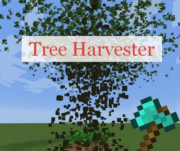 Tree Harvester срубание дерева целиком