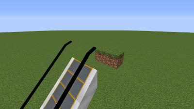 Поместите два плавающих блока на несколько единиц позади самого высокого эскалатора.