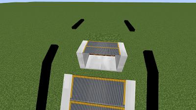 Установите эскалаторы, чтобы соединить плавающие блоки с существующим эскалатором.