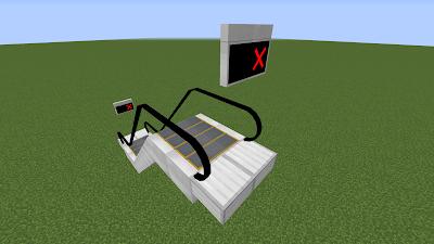 Завершите работу эскалатора, установив посадочную площадку эскалатора вместо плавающих блоков в противоположном направлении.