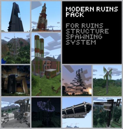 Modern Ruins Pack руины и постройки