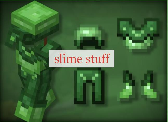 Slimy Stuff броня и оружие из слизи