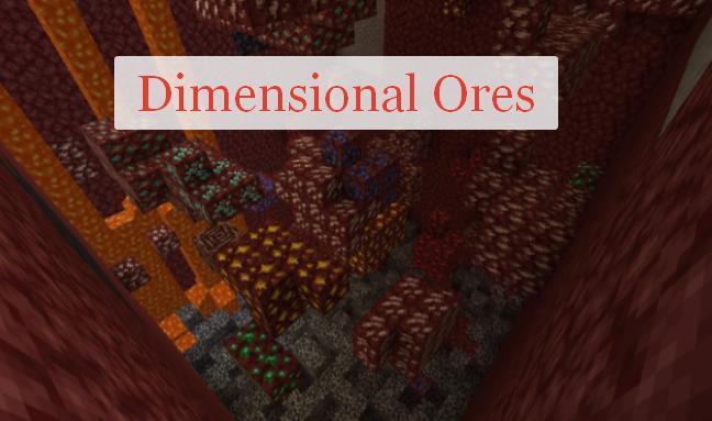 Dimensional Ores генерация руды во всех мирах